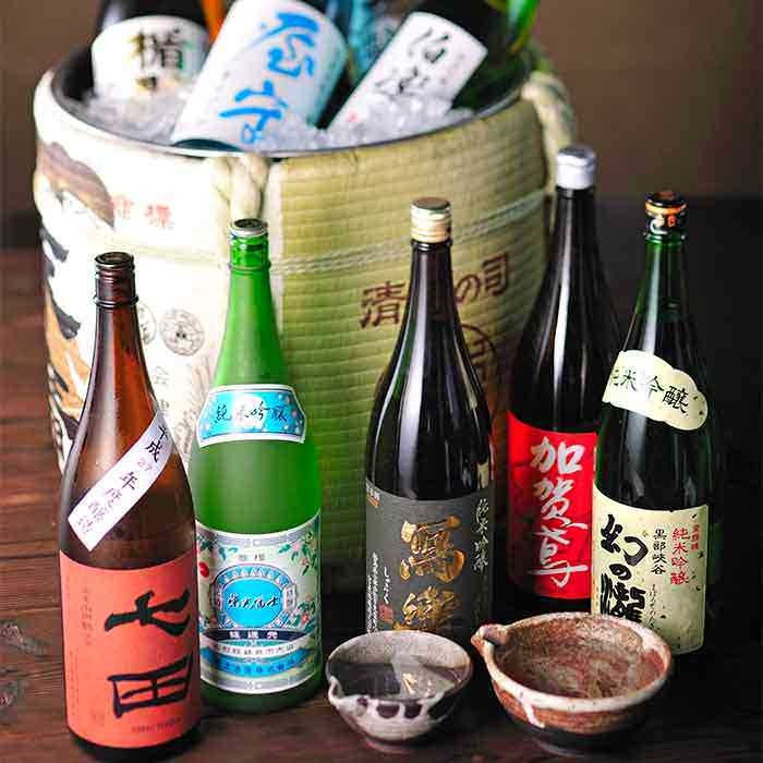 プレミアム飲み放題! 日本各地の地酒20種!