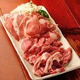 ラム肉4種盛 (野菜付)