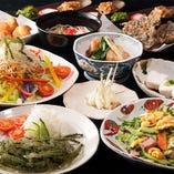 【ゆんたくコース】沖縄定番料理とおつまみメニューも充実!コスパも満足なコース〈全11品〉