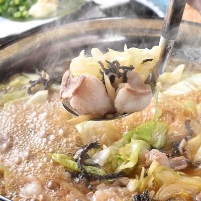 絶品!極旨スープのプリプリもつ鍋!