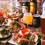 クラフトビールが飲み放題に! こだわりのお料理と共に楽しめるコースです。人数限定、曜日限定のプレミアムプランです。
