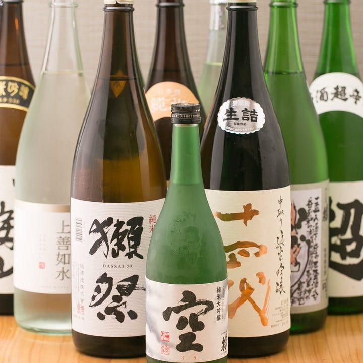 100種の日本酒をセルフで楽しめる!日本酒飲み放題 60分1,500円~