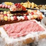 和牛しゃぶしゃぶやお寿司、天ぷらを味わえる食べ放題コース!
