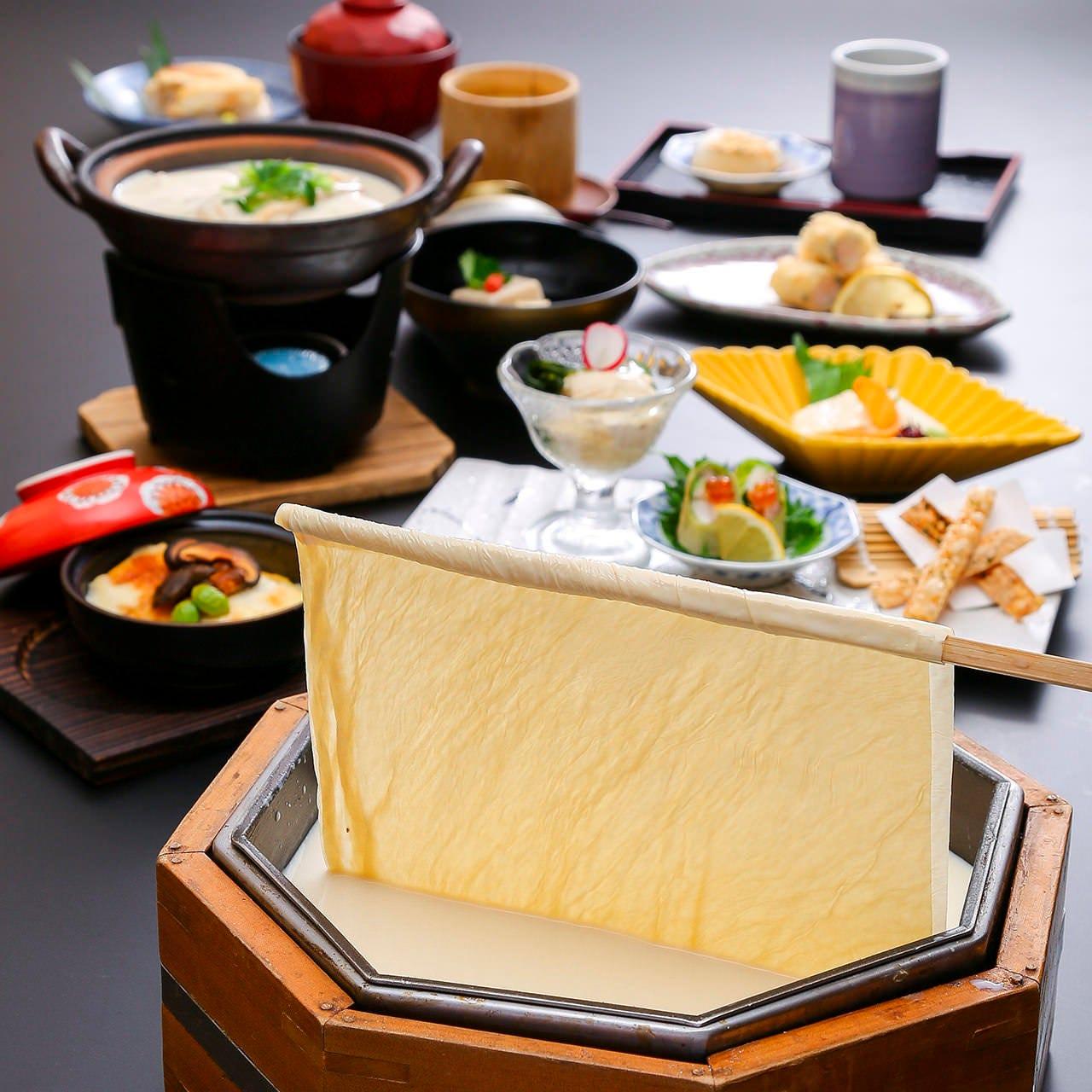 京豆富と湯葉の豆乳小鍋付 『ゆばどすえ-楽-』