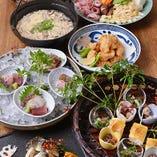 旬の天ぷらや国産うなぎ、様々ご用意しております。