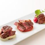 牛肉3種食べ比べ
