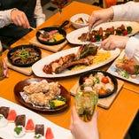 自慢の逸品がズラリと並ぶ、コース料理で宴会がおすすめです。
