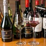 〈厳選ワイン〉 ステーキとの相性抜群!気軽なグラスでも提供