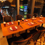 【1~14名様/窓際テーブル席】窓からの眺望を堪能♪デート、女子会のひと時に