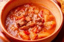 牛筋のギネストマト煮込み