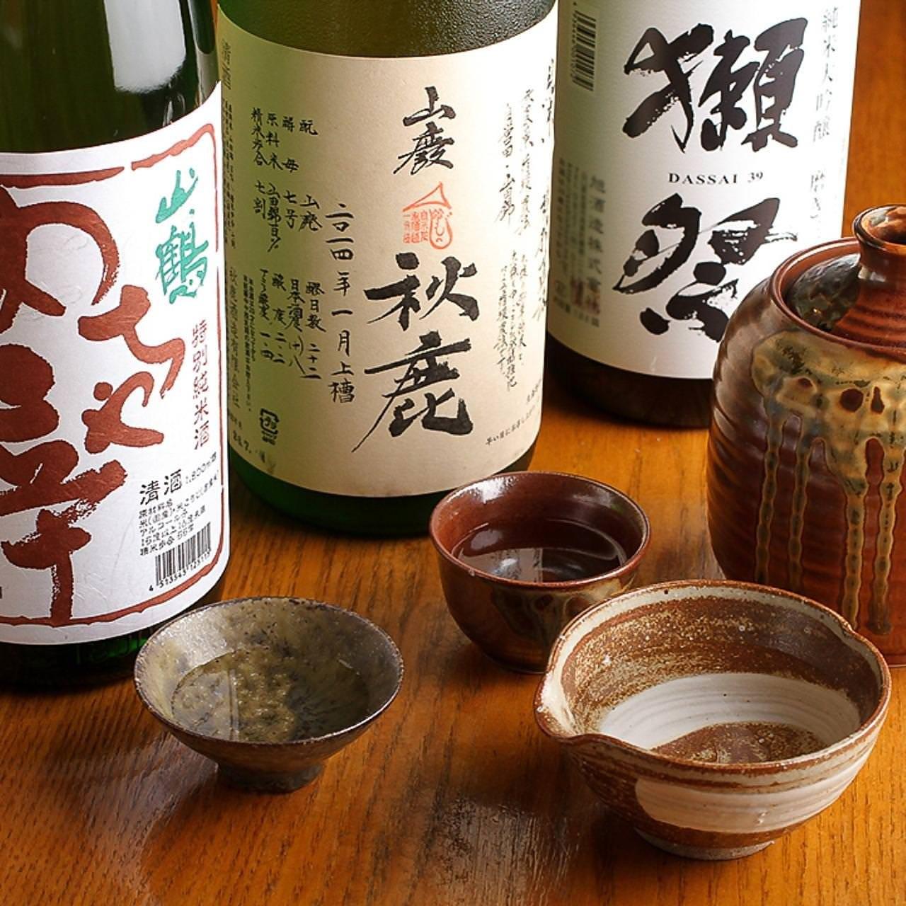 旨い料理と旨い酒…日本酒も各種ご用意しております!!