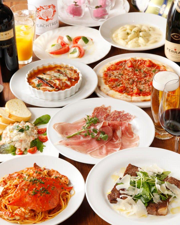 イタリアコース料理飲み放題¥4400~
