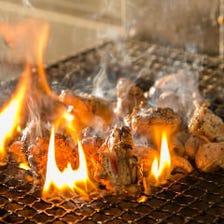 備長炭ならではの炭火焼き