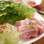 サムギョプサル 瑞穂野産もち豚の旨味
