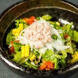 新鮮蟹の和風サラダ