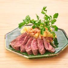 牛サガリステーキ150gガーリック醤油ソース