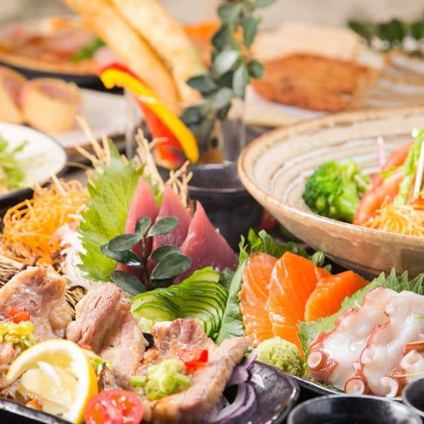 3時間飲み放題付の旬の鮮魚&野菜たっぷり全8品『勝駒-KACHIKOMA-コース』