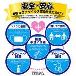 店内のアルコール消毒や従業員の衛生管理を徹底しております。