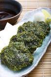 『あおさのり』の天ぷらは磯の風味が口いっぱいに広がります!