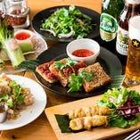 お酒のお共にぴったりな旨辛タイ料理をご堪能ください
