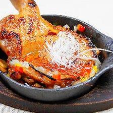 鶏モモ肉のガーリックオイル煮♪