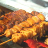 銘柄鶏 奥のみやこ鶏 やきとり串(若どり、とり皮、ぼんじり、砂肝)