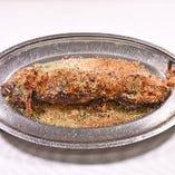 イカ一匹ガーリック風味 オーブン焼き
