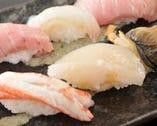 確かな素材と職人の技が光る 寿司の数々をご堪能ください