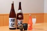 多彩に揃えた日本酒や焼酎も、お見逃しないように♪