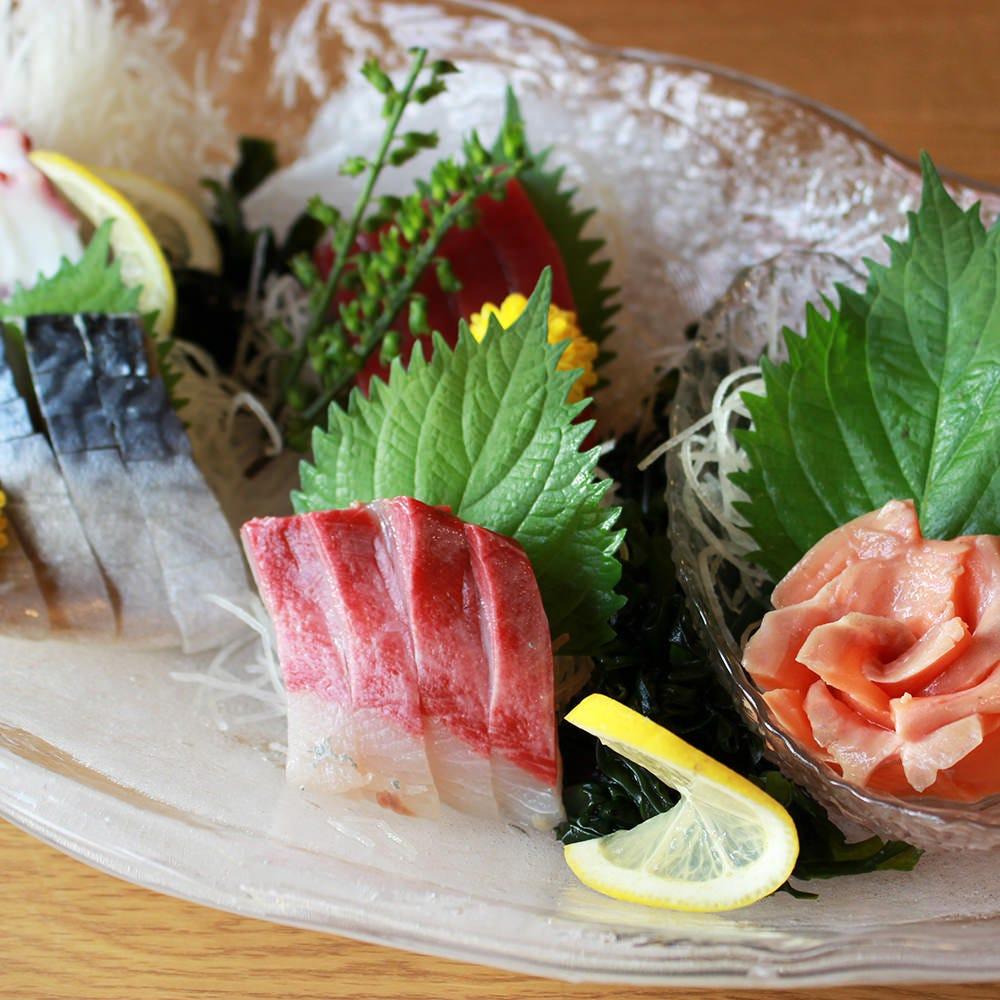 ■朝獲れ築地直送新鮮な鮮魚のお刺身