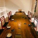 完全個室も完備。約10名様程度まで収容可能です。