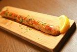イベリコ豚の自家製ソーセージの鉄板焼き
