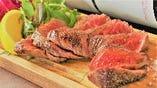 上州牛 究極の熟成肉 内もも肉のステーキ