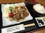 豚の生姜焼定食