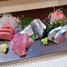 豊洲直送の新鮮な魚介類