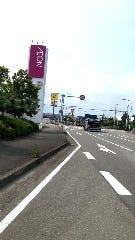 イオン日向店を左手に見ながら信号直進
