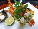 伊勢海老レア天ぷらは伊勢海老三昧コースにてご賞味頂けます。