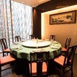 幅2メートルもある大きな円卓・くつろぎの中華個室で質の高いご宴会をどうぞ・・・