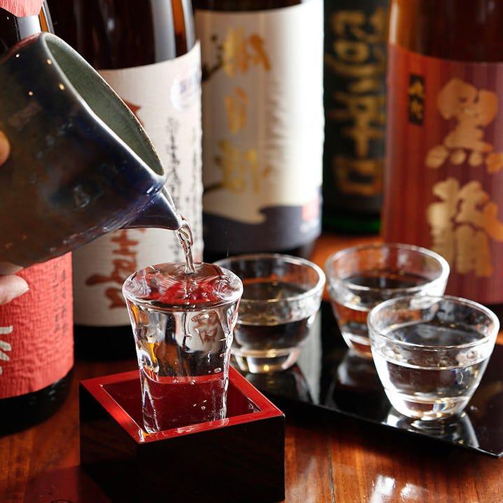 こだわりの日本酒の数々…
