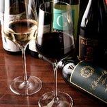 【DX飲み放題】  飲み放題付コースに+1,000円でワインもお楽しみいただけます!