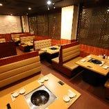 焼肉+火鍋対応・BOXテーブル席(3名様~4名様)