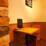 2名様専用テーブル(席のみ予約時、混雑日は2時間15分制※11月12月は2時間制)
