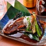 一匹まるごと「本日の煮魚」写真はホウボウ煮付け