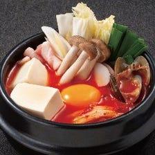 元祖国産あさり純豆腐チゲ(小鍋)
