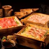 ■炉端蒸し料理■ 豚、鮮魚、黒毛和牛の炉端蒸し