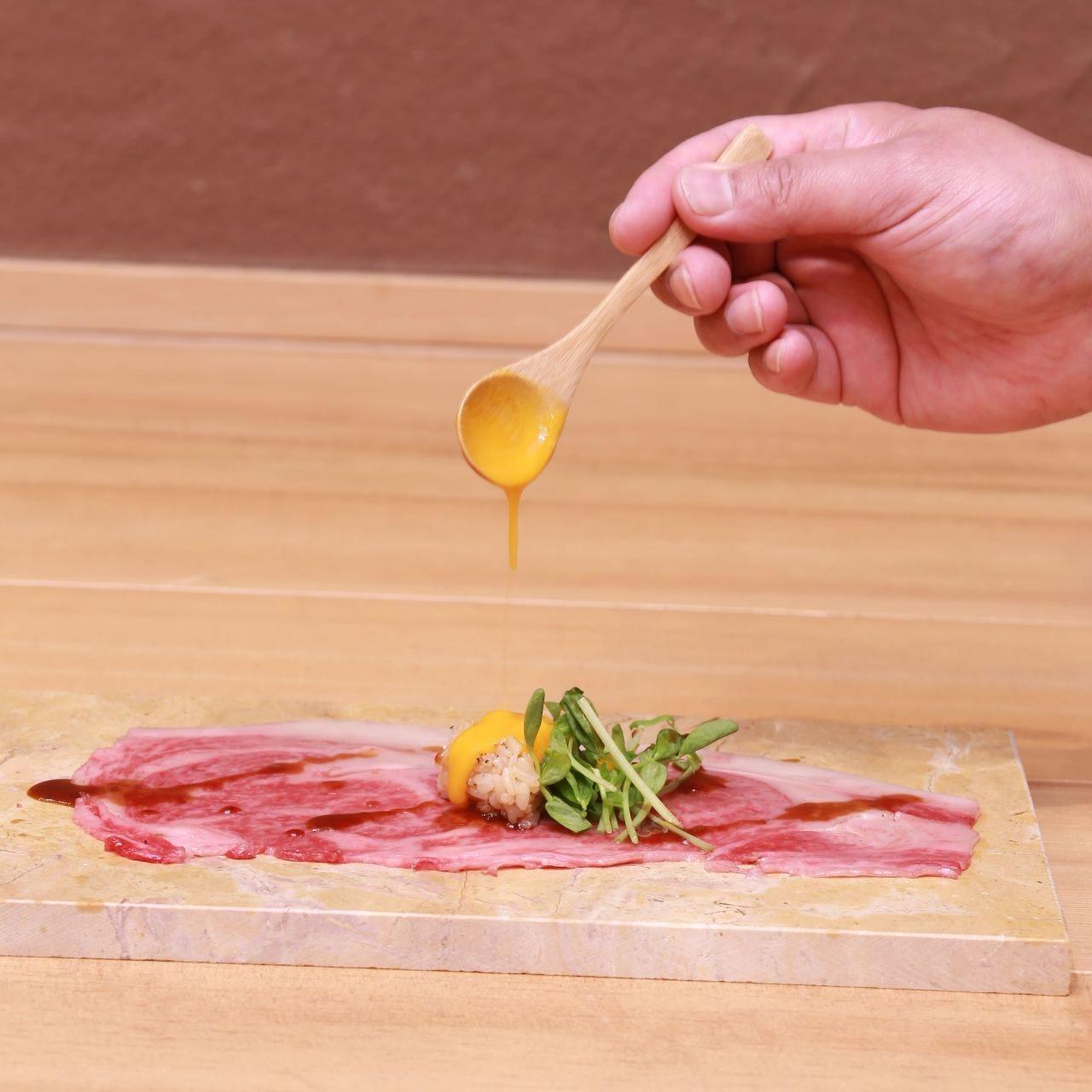 【名物】極上肉の寿司