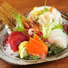 北海道各地より新鮮活魚を仕入れ!