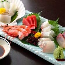◆新鮮な車海老・野菜の江戸前天ぷらに上質な刺身も付いた豪華な『会席コース らん』[全10品]