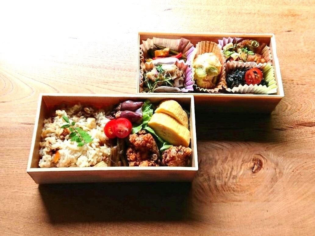 【一番人気】色々な味を少しずつ楽しめる「天水分弁当」(2段)