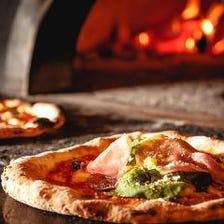 石窯で焼いた自慢のPizzaが全て500円